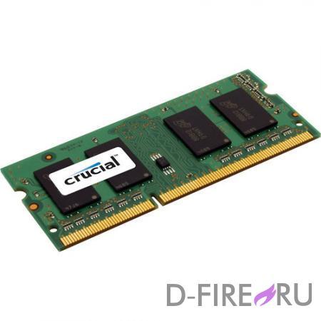 Модуль памяти Crucial 8192Mb 1600MHz SO-DIMM DDR3