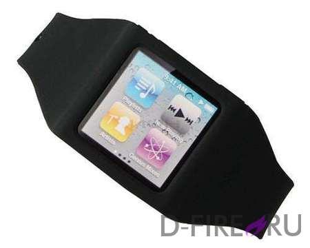 Ремешок PURO на руку PURO Wristband для iPod Nano 6 (силикон, черный)