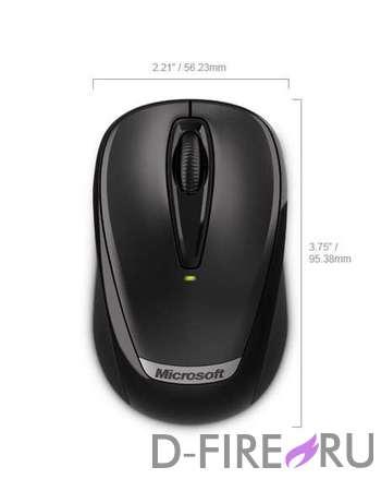 Мышь Microsoft Retail Wireless Mobile Mouse 3000v2