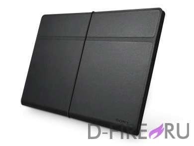 Чехол Sony для Xperia Tablet S кожаный, цвет черный