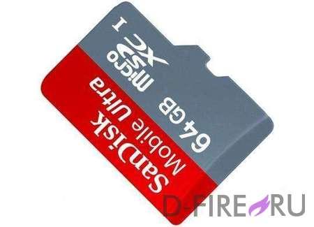 Карта памяти Sandisk 64GB Class 10