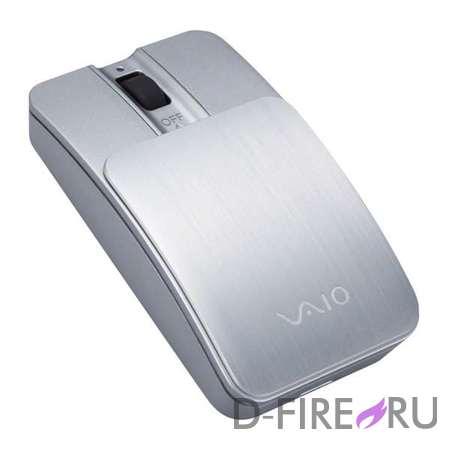 Мышь Sony VGP-BMS11/S Bluetooth, цвет серебристо-белый