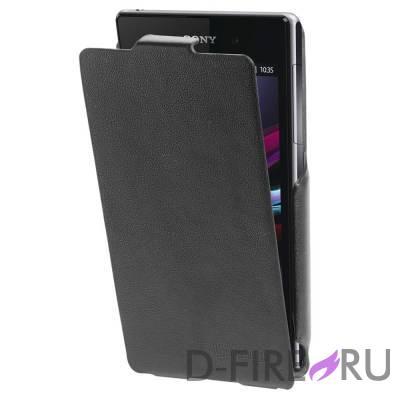 Чехол Untamo Rocca для Sony Xperia Z1 Compact, цвет черный